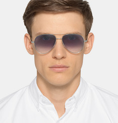 Cutler and Gross Aviator-Style Metal Sunglasses