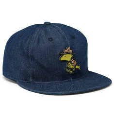 Ebbets Field Flannels Appliquéd Denim Baseball Cap