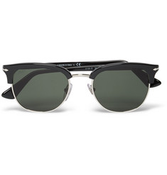 Persol D-Frame Acetate and Metal Sunglasses