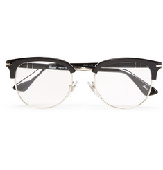 Persol Round-Frame Acetate and Metal Optical Sunglasses
