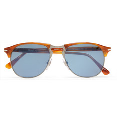 Persol Aviator-Style Acetate and Silver-Tone Sunglasses