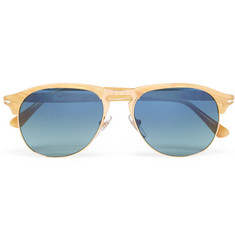 Persol - Aviator-Style Acetate and Gold-Tone Polarised Sunglasses