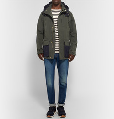 The Workers Club Hooded Two-Tone Cotton-Canvas Jacket