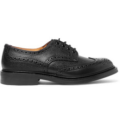 Tricker's Ilkley Pebble-Grain Leather Wingtip Brogues