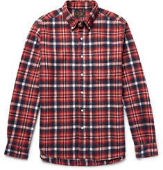 Beams Plus Shaggy Button-Down Collar Checked Brushed-Cotton Flannel Shirt