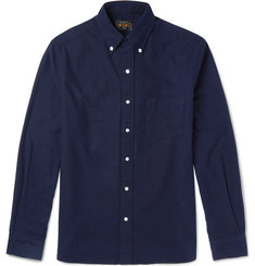 Beams Plus Slim-Fit Button-Down Collar Brushed-Cotton Flannel Shirt