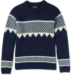 Beams Plus Intarsia Wool Sweater