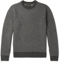 Beams Plus Two-Tone Intarsia Wool-Blend Sweatshirt