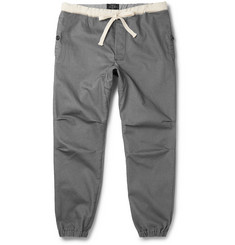 Beams Plus Slim-Fit Drawstring Cotton-Blend Trousers