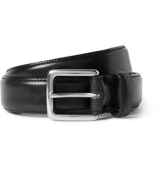 J.Crew 3cm Black Leather Belt