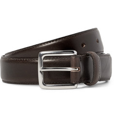 J.Crew 3cm Dark-Brown Leather Belt