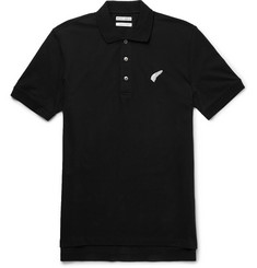 Michael Bastian Embroidered Stretch-Cotton Piqué Polo Shirt