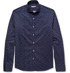 Michael Bastian Slim-Fit Printed Cotton Shirt