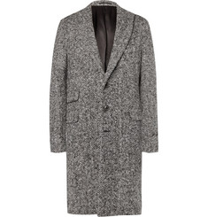 Michael Bastian Herringbone Brushed Virgin Wool Coat