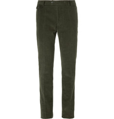 Michael Bastian Green Slim-Fit Cotton-Corduroy Suit Trousers