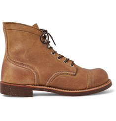 Red Wing Shoes Iron Ranger Distressed Suede Boots