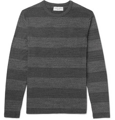 Officine Generale Slim-Fit Striped Cotton-Jersey T-Shirt
