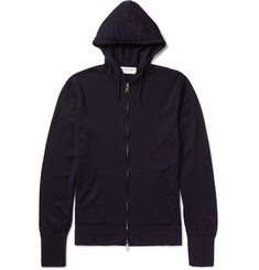 Officine Generale - Merino Wool Zip-Up Hoodie