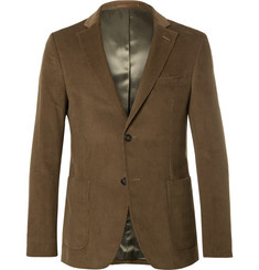 Officine Generale Brown Cotton-Corduroy Suit Jacket