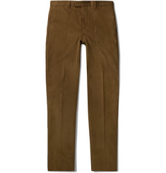 Officine Generale Brown Cotton-Corduroy Suit Trousers