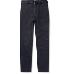 Officine Generale Julian Slim-Fit Cotton and Ramie-Blend Twill Trousers