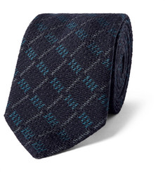 Marwood 7cm Checked Silk And Wool-Blend Tie