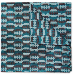 Marwood - Silk-Jacquard Pocket Square