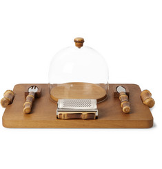 Cedes Milano - Iroko Wood, Bamboo and Stainless Steel Parmesan Cheese Set