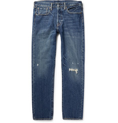 Levi's - 501 Slim-Fit Distressed Denim Jeans