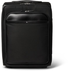 Montblanc - Nightflight Leather-Trimmed Tech-Canvas Wheeled Suitcase