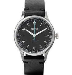 Tsovet JPT-PW36 36mm Stainless Steel and Leather Watch