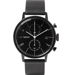 Tsovet - JPT-CC38 Stainless Steel and Leather Watch
