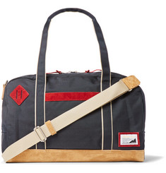 Master-Piece Suede-Trimmed Canvas Holdall