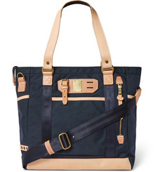 Master-Piece Leather-Trimmed Canvas Tote Bag