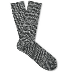 Missoni - Ribbed Mélange Wool-Blend Socks