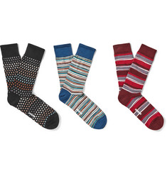 Missoni - Three-Pack Patterned Cotton Socks