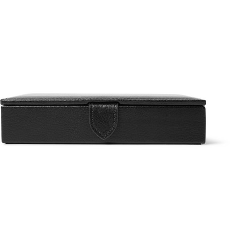 wolf male wolf blake fullgrain leather cufflink case black