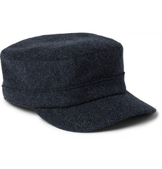 Lock & Co Hatters Herringbone Wool Cap