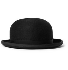 Lock & Co Hatters Grosgrain-Trimmed Rabbit-Felt Bowler Hat