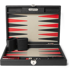 Hector Saxe - Daniel Grained-Leather Backgammon Set
