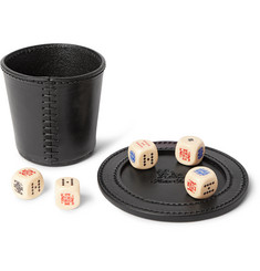 Hector Saxe Liar's Poker Dice With Leather Cup