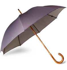 London Undercover D-Lux Hickory Wood-Handle Denim Umbrella