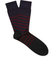John Smedley Dionysus Striped Sea Island Cotton-Blend Socks
