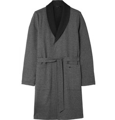 Hanro Davide Double-Faced Brushed-Cotton Robe