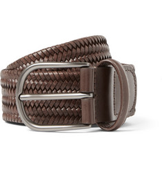 Anderson's 3.5 Brown Woven Leather Belt