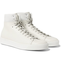 John Elliott - Panelled Leather High-Top Sneakers