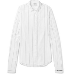 Vetements Exaggerated-Sleeve Striped Cotton Shirt