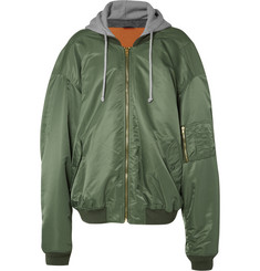 Vetements MA1 Oversized Shell Hooded Bomber Jacket
