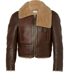 Vetements Cropped Shearling Aviator Jacket