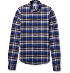 Vetements Exaggerated-Sleeve Checked Cotton-Flannel Shirt